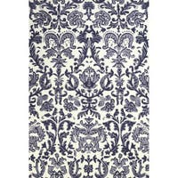 Grand Bazaar Power Loomed Polyester Pia Rug in Lilac / White - 5' x 8'