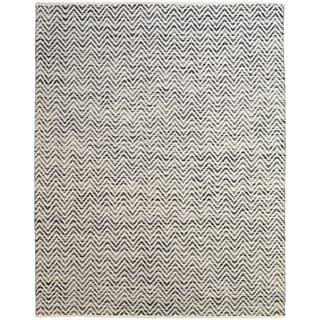 Grand Bazaar Hand Woven Wool & Cotton Boteh Rug in Dark Blue / Gray 8' X 11'
