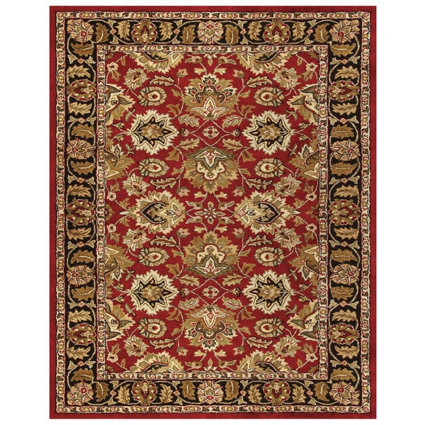 Grand Bazaar Adair Red/ Black Area Rug - 8' x 11'