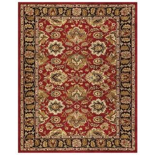 Grand Bazaar Tufted Wool Pile Adair Rug in Red/ Black (8' x 11')