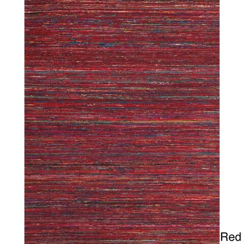 Grand Bazaar Hand Woven Viscose Dabney Rug in Gray 5' x 8'