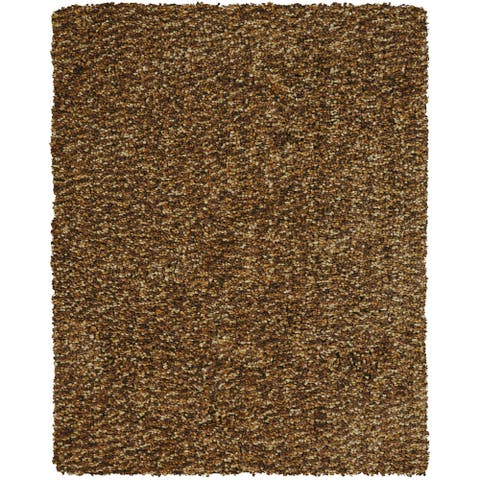 Grand Bazaar Tufted Polyester Catarina Rug in Raisin (5' x 8') - 5' x 8'