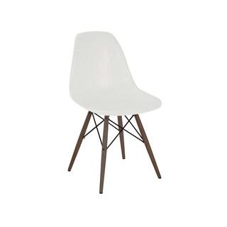 Mid Century Almond Side Chair Walnut Base (Set of 5)