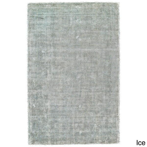 Grand Bazaar Hand Woven Viscose & Cotton Sarma Area Rug in Ice (9'6 x 13'6)