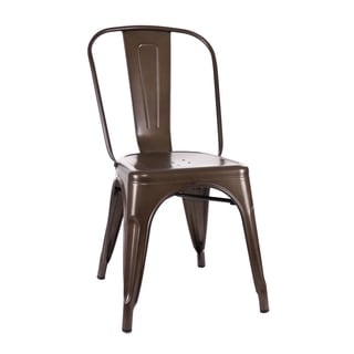 Amalfi Stackable Rustic Matte Steel Side Chair (Set of 4)