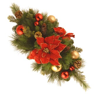30-inch Decorative Collection Home For the Holidays Centerpiece