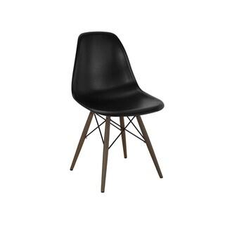 Mid Century Black Dining Chair Walnut Base (Set of 5)
