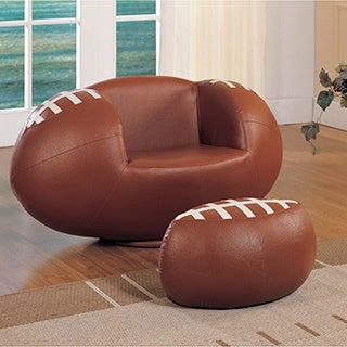 2-piece All Star Football Youth Chair and Ottoman Set