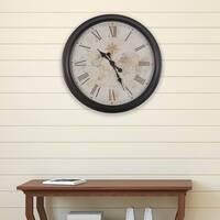 """30-inch Antique Map Clock - 30"""""""