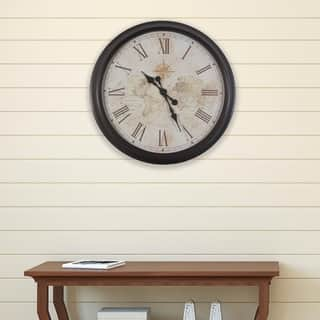 Clocks for less overstock 30 inch antique map clock sciox Images