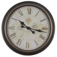 24-inch Global Antique Map Clock