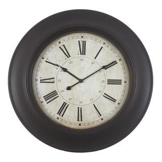 24-inch Roman Wood-grain Clock