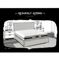 Bed Boss Gel Memory Foam Mattress Heavenly King Mattress 9 Inch White King Mattress Bed in a Box 10 Year Warranty Medium Firm