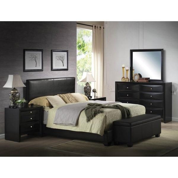 Ireland Black PU Queen Bed