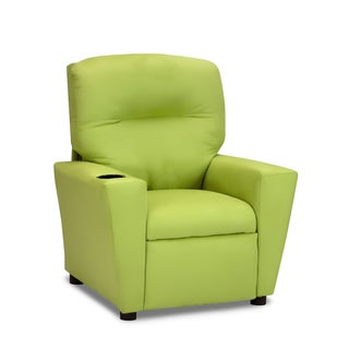 Kids' Lime Green Suede Recliner