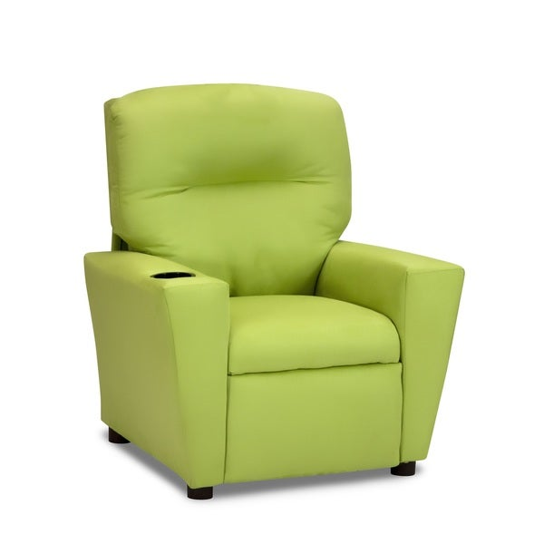 Lime Green Suede Tween Chair