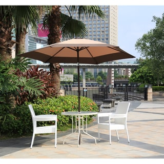 Corvus Malta 9 Foot Coffee Khaki Patio Umbrella