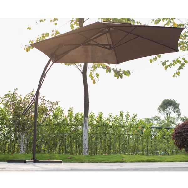 Corvus 10 Foot Coffee Colored Offset Patio Umbrella