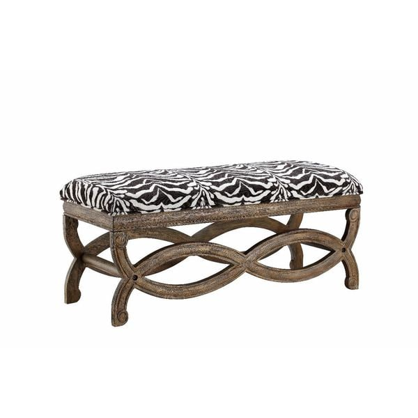 Shop Hawfinch Zebra Print Accent Bench Free Shipping