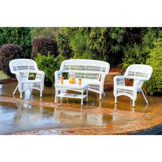Tortuga Portside Outdoor PE Wicker 4-piece Patio Seating Set
