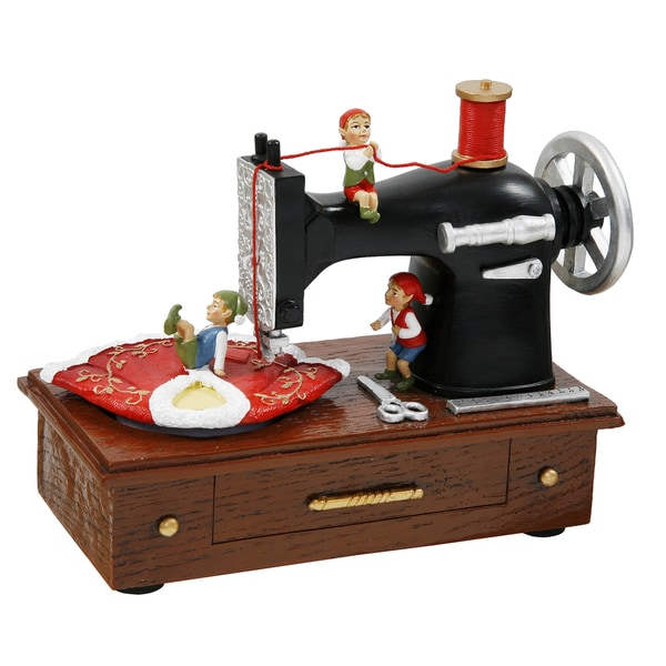 Black Sewing Machine Music Box