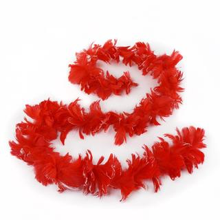 Red Goose Coquille Feather Garland