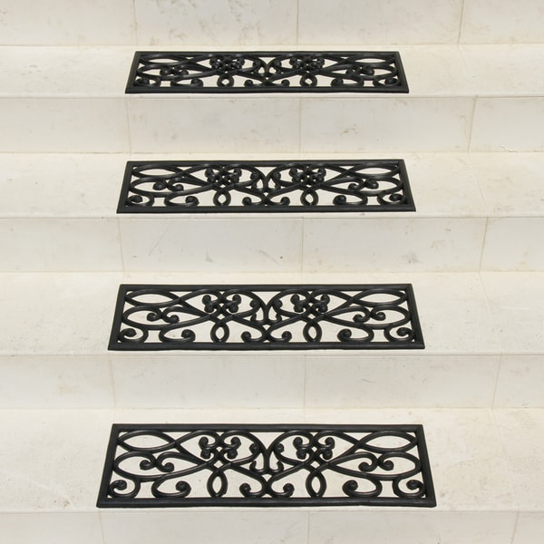 Rubber Cal U0026#x27;New Amsterdamu0026#x27; Black Stair Tread Rubber