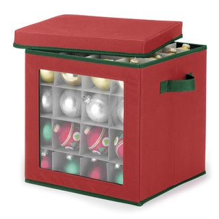 Whitmor Red Ornament Storage Cube