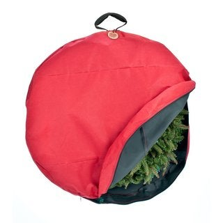 TreeKeeper Santa's Bags Premium Christmas Wreath Storage Bag with Direct-suspend Handle