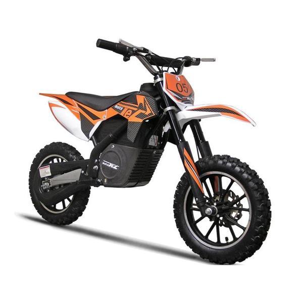 MotoTec 24v 500w Orange Electric Dirt Bike