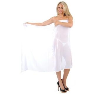 La Leela Plain Choice For Cruise Resort Fringeless Cover up GIFT US 1X White