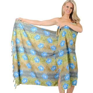 La Leela Bikini Cover up Resort Swimsuit Pool Swimwear Beachwear Wrap Pareo Gift Grey