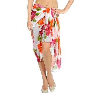 La Leela Hawaii Carribean Theme Party Shawl Sarong.Cover up Wrap Skirt 3 in 1 Scarf Aloha