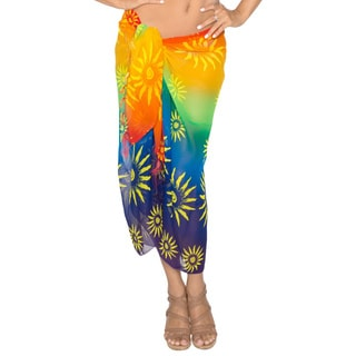 La Leela For Tropic Vacation Wrap.Dress.Pool Party.3 in 1 Swimsuit Cover up Sarong Skirt