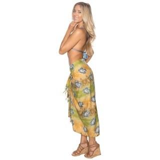 La Leela Bikini Cover up Resort Swimsuit Pool Swimwear Beachwear Wrap Pareo Gift Beige