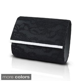 Jacki Design Lovely Satin Lace Clutch
