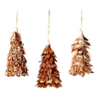Sage & Co 4.25-inch Mini Feather Tree Ornament (Assortment of 3/ Pack of 12)
