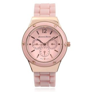 Journee Collection Round Face Quartz Silicone Band Watch