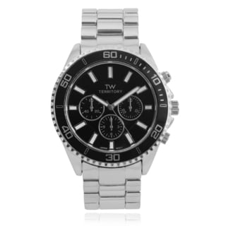 Territory Men's Round Face Quartz Link Watch