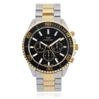 Territory Men's Black Dial Multi-Chrono Look Watch