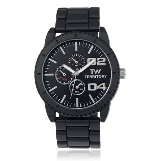 Territory Men's Round Face Stainless Steel Link Watch