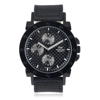 Territory Men's Faux Leather Band Watch