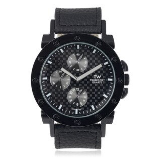 Territory Men's Large Round Strap Watch
