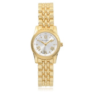 Journee Collection Round Face Quartz Link Band Watch