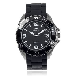 Territory Men's Tachymeter Stainless Steel Link Watch|https://ak1.ostkcdn.com/images/products/9646271/P16829827.jpg?impolicy=medium