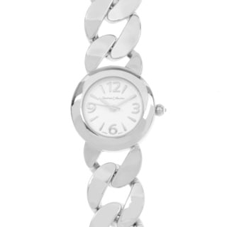 Journee Collection Round Face Link Band Watch