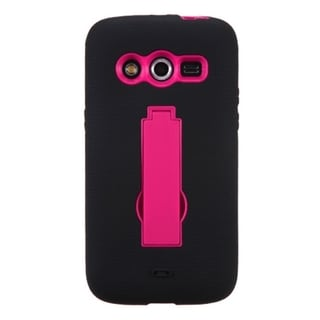 INSTEN Symbiosis Dual Layer Hybrid Stand Rubber Silicone/ PC Phone Case Cover For Samsung Galaxy Avant