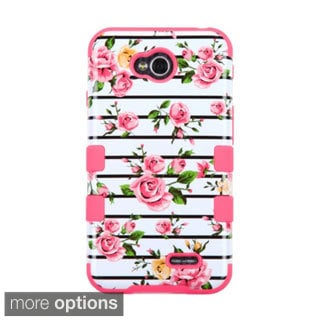 INSTEN Tuff Hybrid Rubberized Hard PC/ Silicone Phone Case Cover For LG Optimus Exceed 2 Verizon/ Optimus L70/ Realm