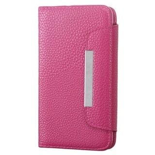 INSTEN Wallet Leather Folio Flip Phone Case Cover With Stand For LG Optimus Exceed 2 Verizon/ Optimus L70/ Realm