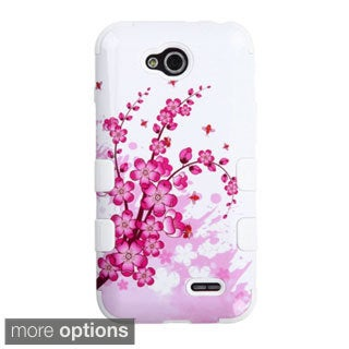 INSTEN Pattern Design Tuff Dual Layer Hybrid Rubberized Hard PC/ Silicone Phone Case Cover For LG Optimus L90